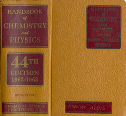 iCRC - Handbook of chemistery and physics - 44th cover